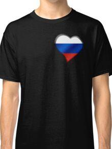 Russian Flag - Russia - Heart Classic T-Shirt