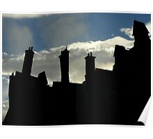 The Sun Rises Over Hogsmeade Poster