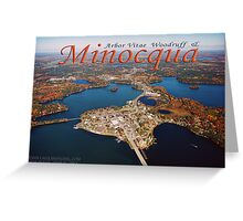 Aerial photo of Minocqua Island Greeting Card