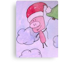 Flying To The North Pole Metal Print