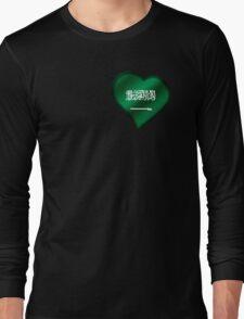 Saudi Arabian Flag - Saudi Arabia - Heart Long Sleeve T-Shirt