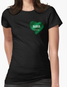 Saudi Arabian Flag - Saudi Arabia - Heart Womens Fitted T-Shirt