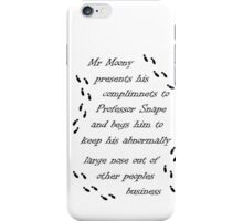 Marauders Map Mr Moony iPhone Case/Skin