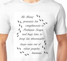 Marauders Map Mr Moony Unisex T-Shirt