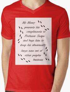 Marauders Map Mr Moony Mens V-Neck T-Shirt