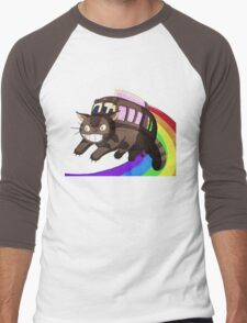 catbus nyan Men's Baseball ¾ T-Shirt