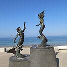 Poseidon and the mermaid - Poseidon y la sirena, Puerto Vallarta, Mexico by PtoVallartaMex