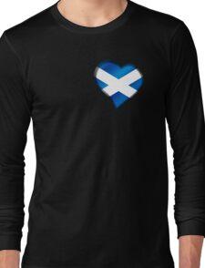 Scottish Flag - Scotland - Heart Long Sleeve T-Shirt