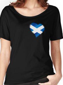 Scottish Flag - Scotland - Heart Women's Relaxed Fit T-Shirt