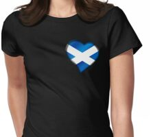 Scottish Flag - Scotland - Heart Womens Fitted T-Shirt