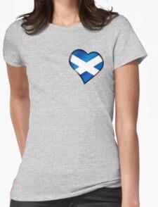 Scottish Flag - Scotland - Heart Womens Fitted T-Shirt