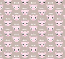 Oink! Kawaii Pig by kitschandkooky