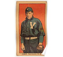 Benjamin K Edwards Collection James Vancouver Team baseball card portrait Poster