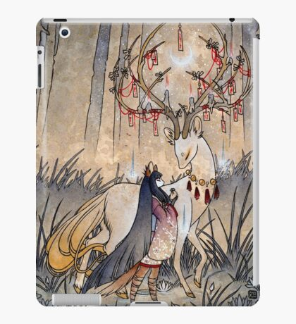 The Wish - Kitsune Fox Deer Yokai iPad Case/Skin