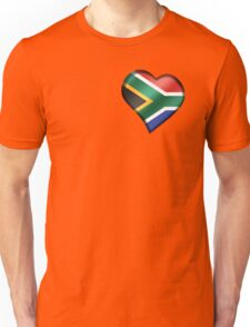South African Flag - South Africa - Heart Unisex T-Shirt