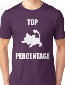 Ratatta: TOP PERCENTAGE (White) Unisex T-Shirt