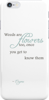 Weeds are flowers too iPhone Case - White by Hilda Rytteke