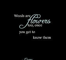 Weeds are flowers too iPhone Case - Black by Hilda Rytteke