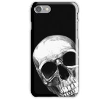 skull on black iPhone Case/Skin