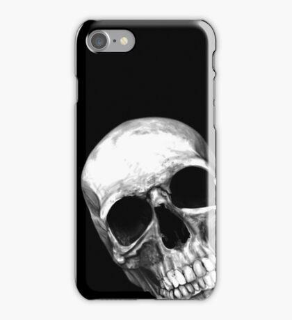 skull on black iPhone Case/Skin