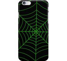 spider web (green) iPhone Case/Skin