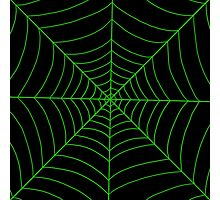 spider web (green) Photographic Print