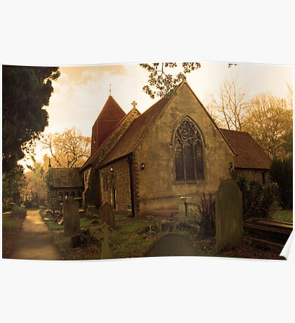 St Leonard's Church, Hollington - from the east Poster
