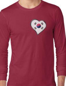 South Korean Flag - South Korea - Heart Long Sleeve T-Shirt