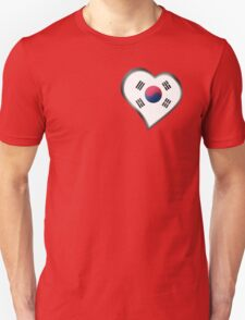 South Korean Flag - South Korea - Heart T-Shirt