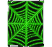 spider web (green glowing) iPad Case/Skin