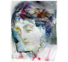 VIRGINIA WOOLF - watercolor portrait.3 Poster