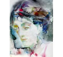 VIRGINIA WOOLF - watercolor portrait.3 Photographic Print