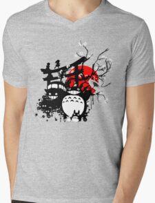 Japan Spirits Mens V-Neck T-Shirt