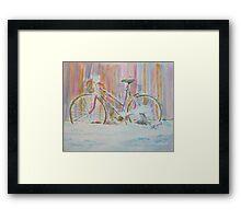 Abandoned Girlie Bike Framed Print