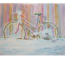 Abandoned Girlie Bike Photographic Print