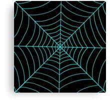 spider web (blue) Canvas Print
