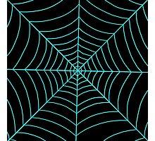 spider web (blue) Photographic Print