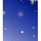 Let It Snow iPhone Case by christopher r peters