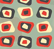 Modern colored curved rectangle pattern by UDDesign
