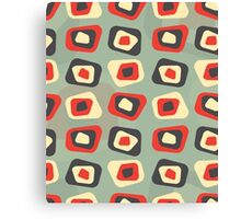 Modern colored curved rectangle pattern Canvas Print