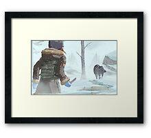 Silence in the Snow Framed Print