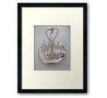 Silver and Crystal Cruet Set Framed Print