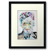 GEORGE ORWELL - watercolor portrait.5 Framed Print
