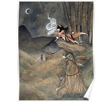 Okina Illusions - Fox Kitsune Yokai Poster