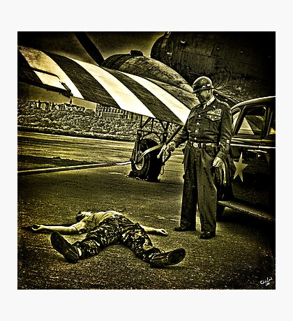 HEADLINE NEWS: Assassination Attempt at the Airfield! Photographic Print