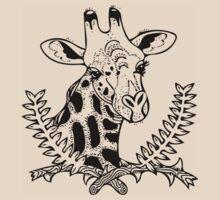 Giraffe and Acacia by LoraMaze