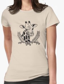 Giraffe and Acacia Womens Fitted T-Shirt