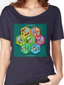 Business Cell Isometric Women's Relaxed Fit T-Shirt