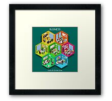 Business Cell Isometric Framed Print