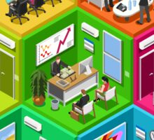 Business Cell Isometric Sticker